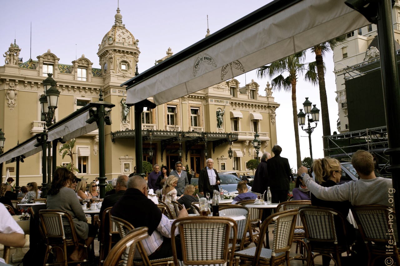 Café de Paris terrace in Monaco