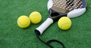 Tennis accessories on the grass