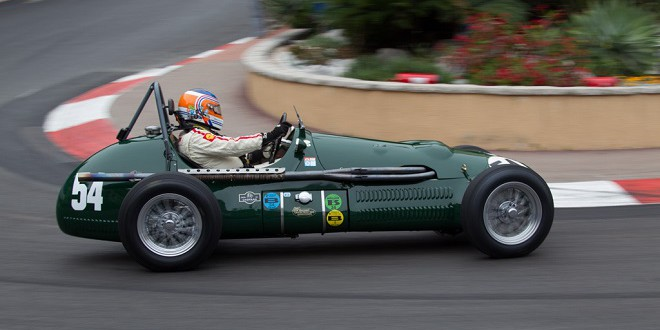 Historic race car on the track of Monaco