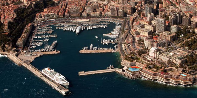 Monaco - view from the helicopter