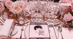 Decorated table at the Ball de la Rose in Monte –Carlo in 2016