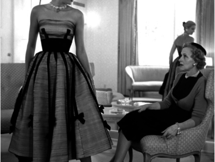 Grace Kelly with her mother, Margaret Kelly, trying a dress