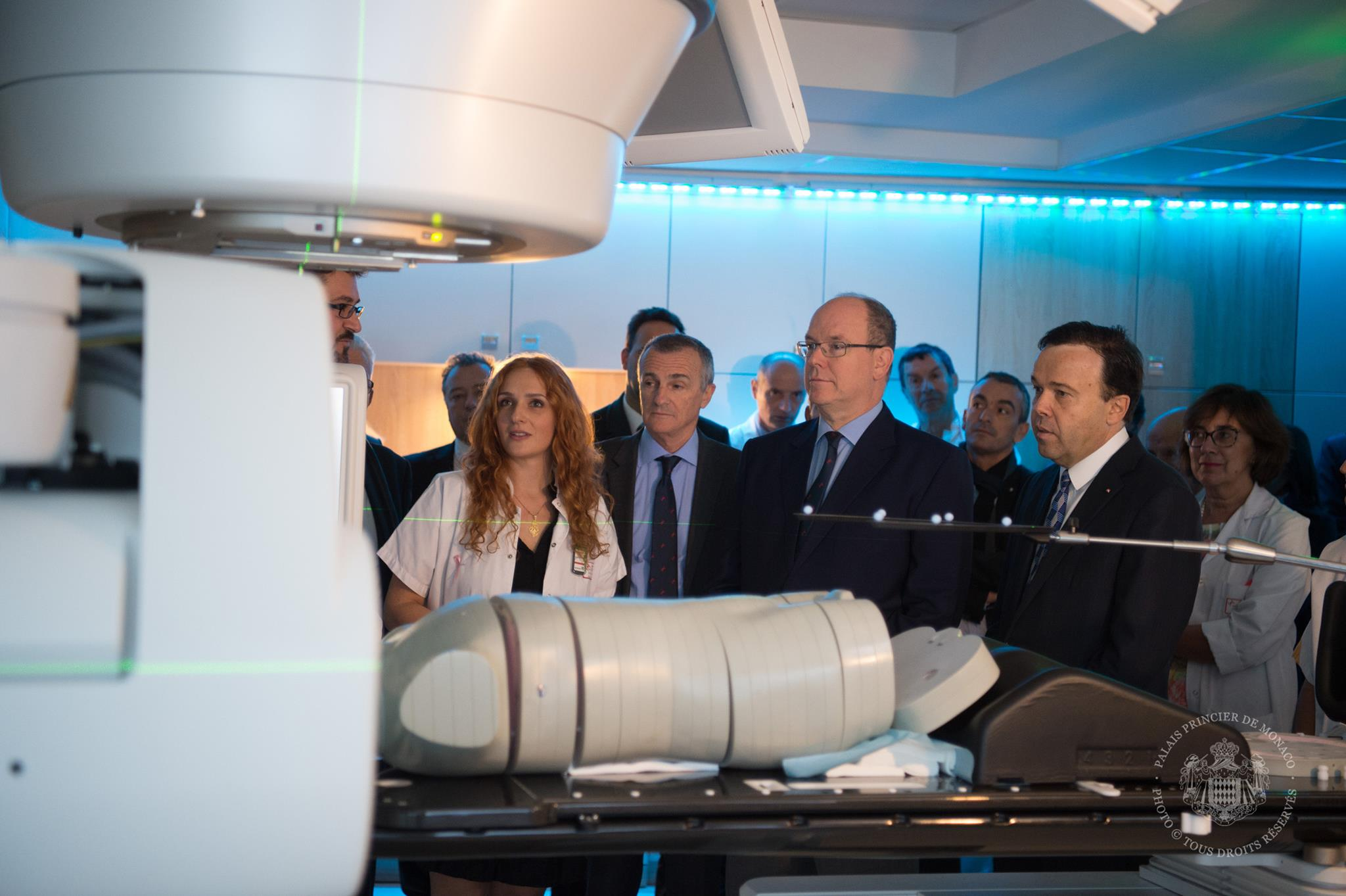 Prince Albert II inaugurates True Beam installation