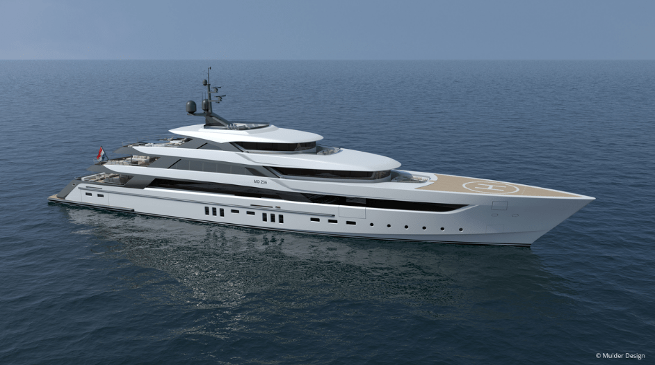 Mulder Design presents 72m superyacht concept