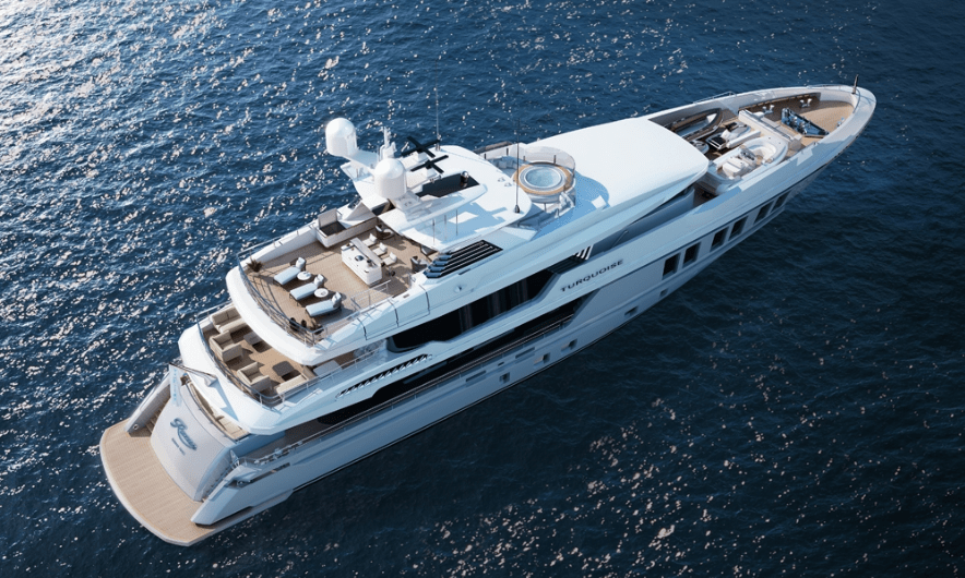 Turquoise Yachts launches 47m superyacht Razan