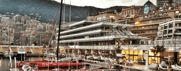 The Trimaran  of Guo Chuan in Monaco