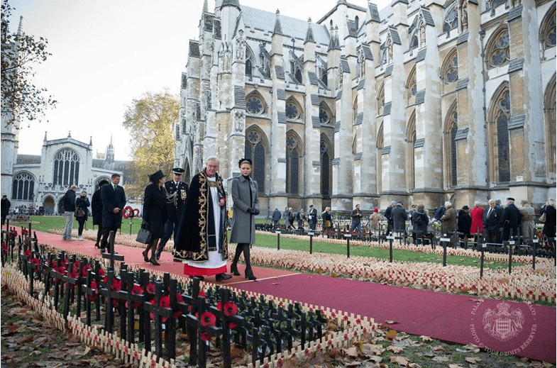 Princess Charlene visits Westminster Abbey