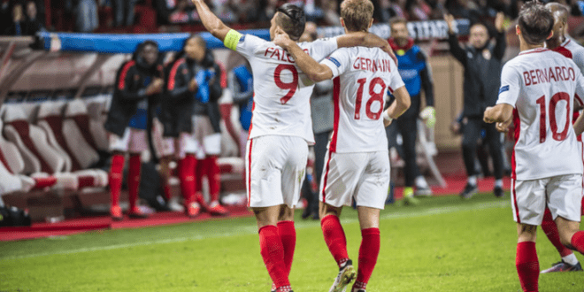 Victory of AS Monaco in the game with CSKA Moscow