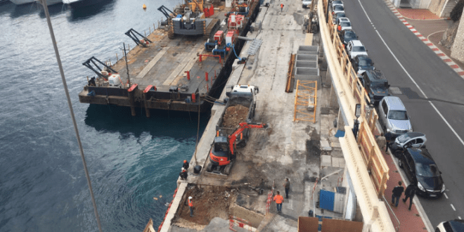 Monaco reconstruction works in the port