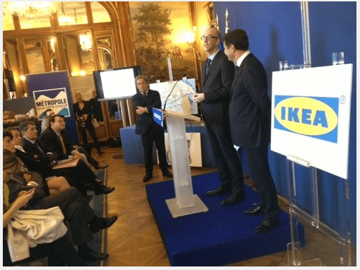 Press conference of IKEA management