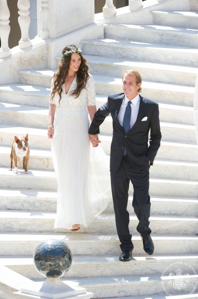 Andrea Casiraghi and Tatiana Santo Domingo