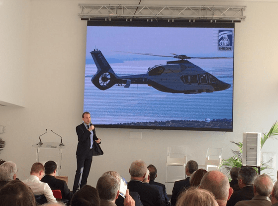 Fabrice Arfi presented a prototype of the Airbus