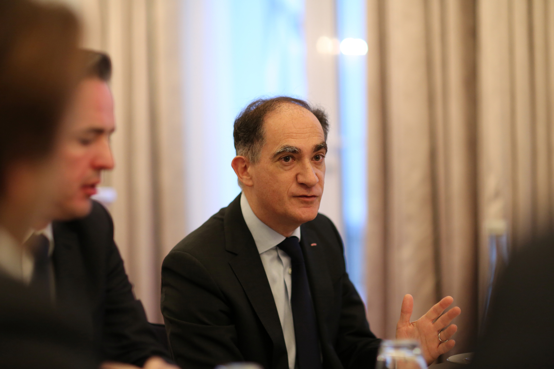 Jean Castellini, the Government Minister for Finance and Economy