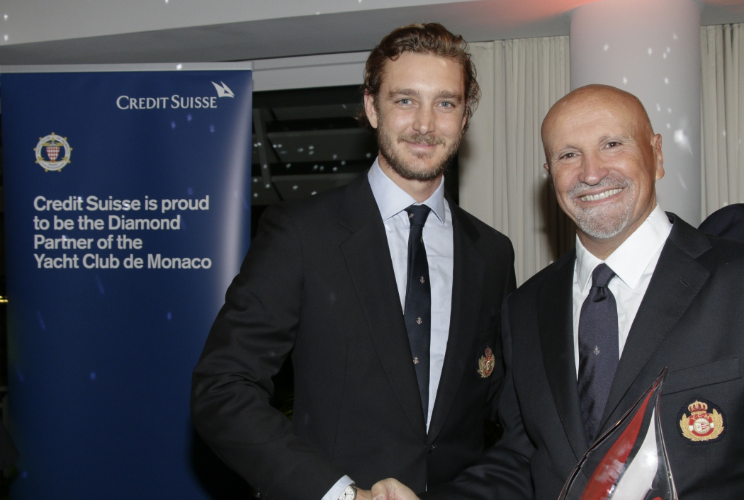 Pierre Casiraghi and Vincenzo Onorato at YCM Awards