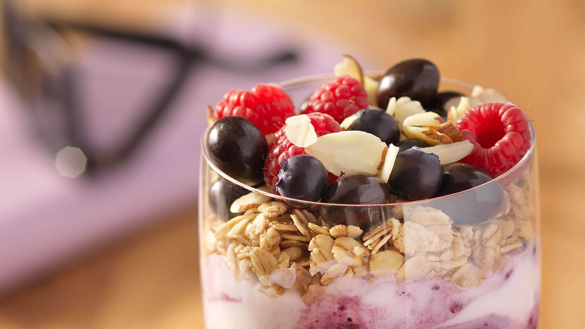 Granola and fruit parfait