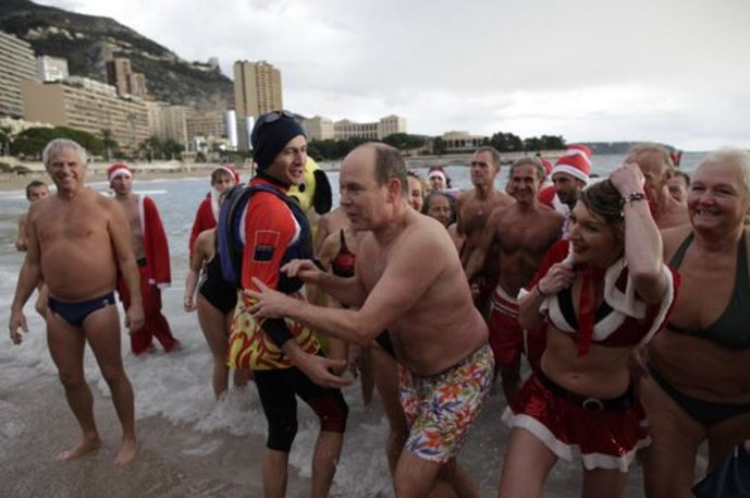 12th annual Christmas swim in the sea