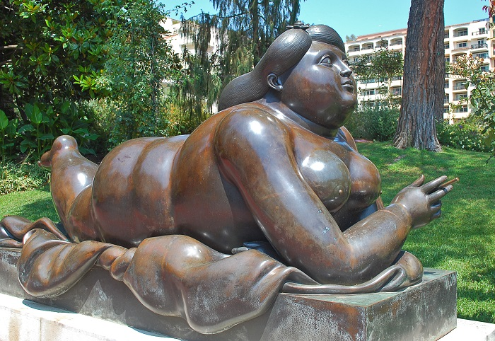 "Sculpture ""A Woman with a cigarette"""
