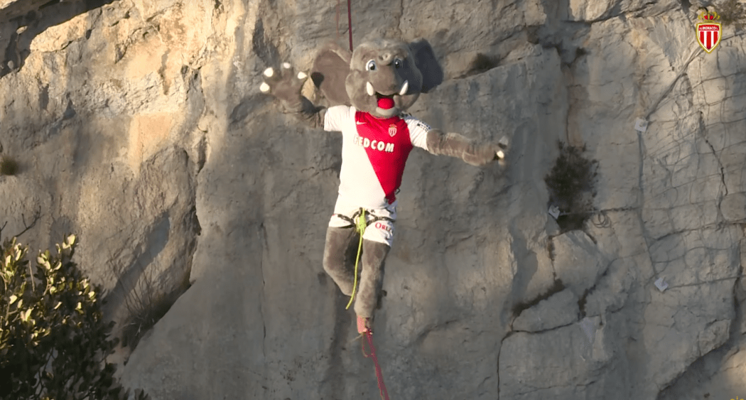 Photo of ASM Mascot Bouba, the Tightroping Elephant!