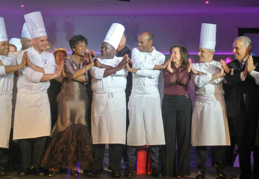 Chefs and members of the AIHM
