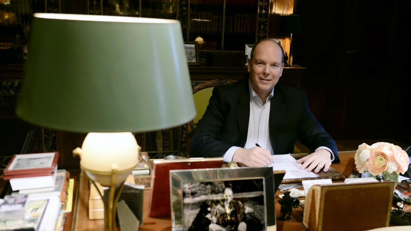 Photo of Interview with Prince Albert II of Monaco, at his castle in Aisne