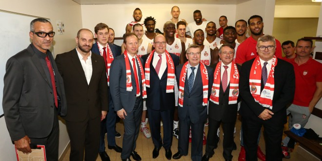 Prince Albert II and Basketball team