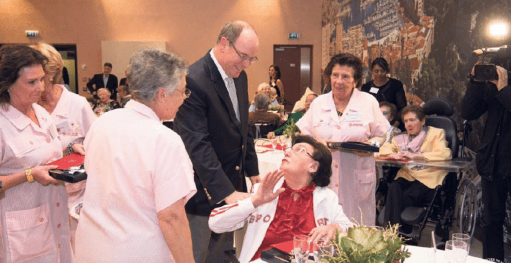 Prince Albert II at Hospital