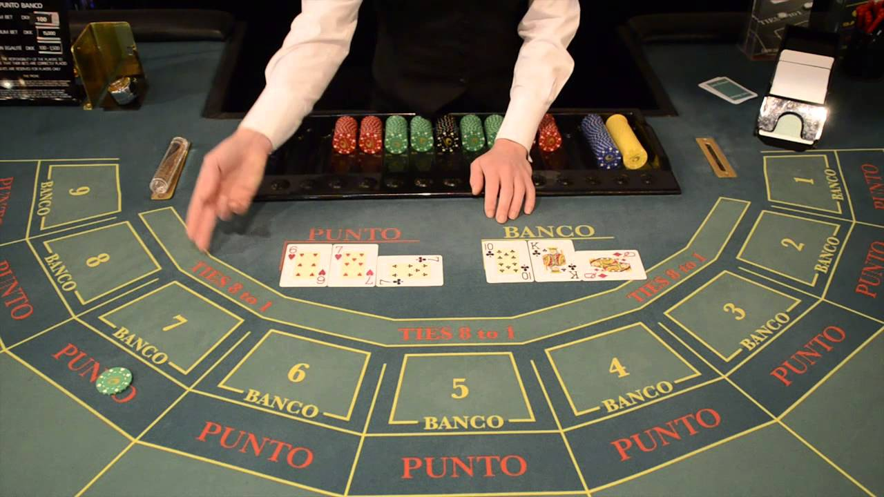 Punto banco table