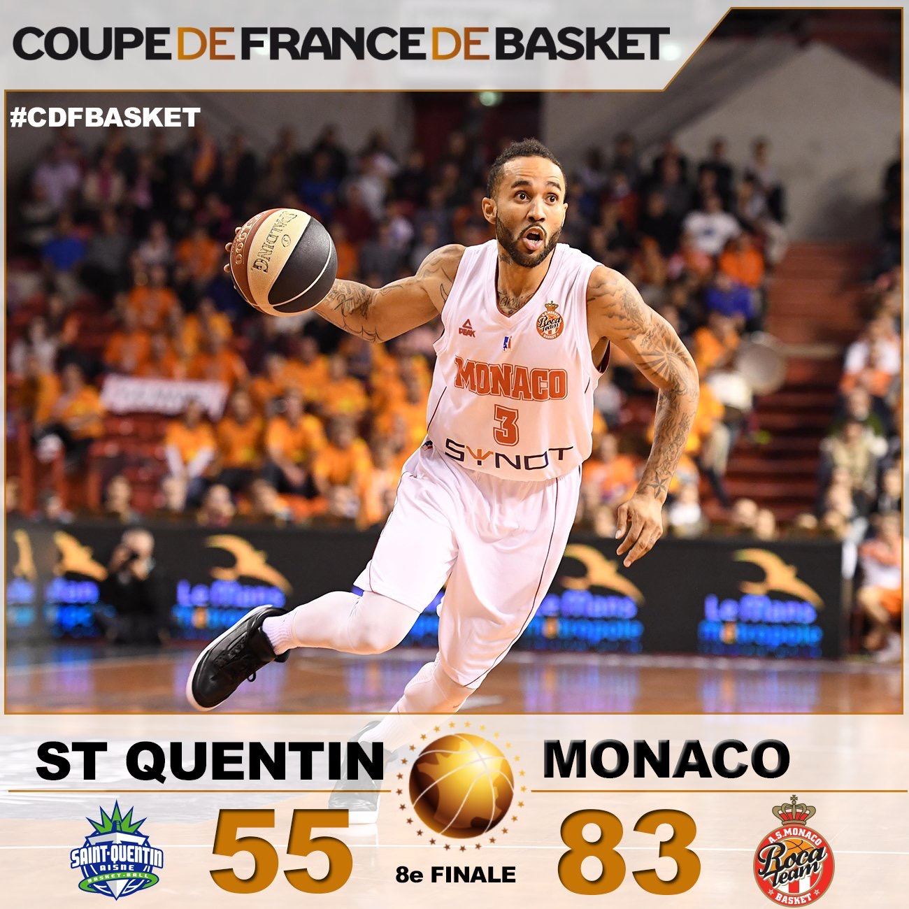 Basketball Roca team won against Saint-Quentin