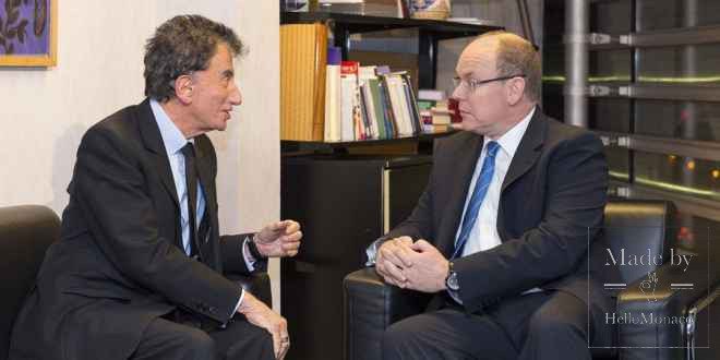 Prince Albert II and Jack Lang