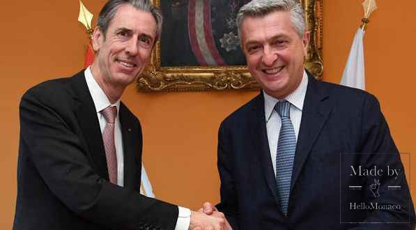 Mr Gilles Tonelli, Minister of Foreign Affairs and Cooperation and Mr Filippo Grandi, the United Nations High Commissioner for Refugees