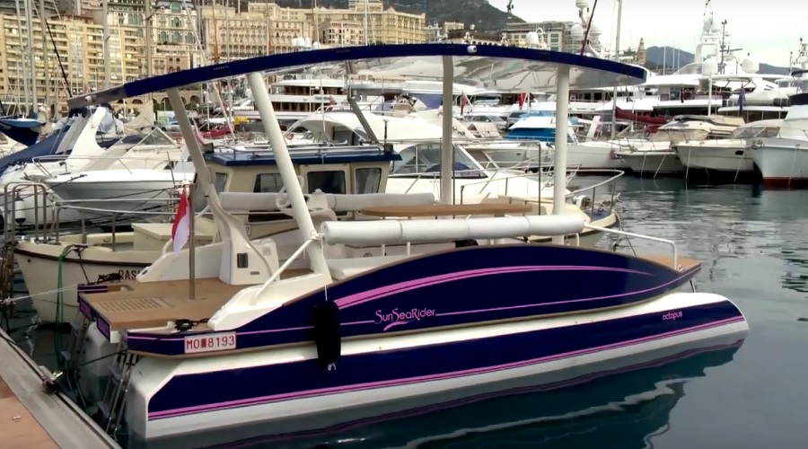 Photo of The Octopus, Monaco's first solar-powered catamaran