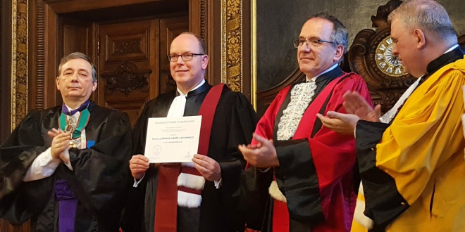 Prince Albert II recieves Doctor Honoris Causa