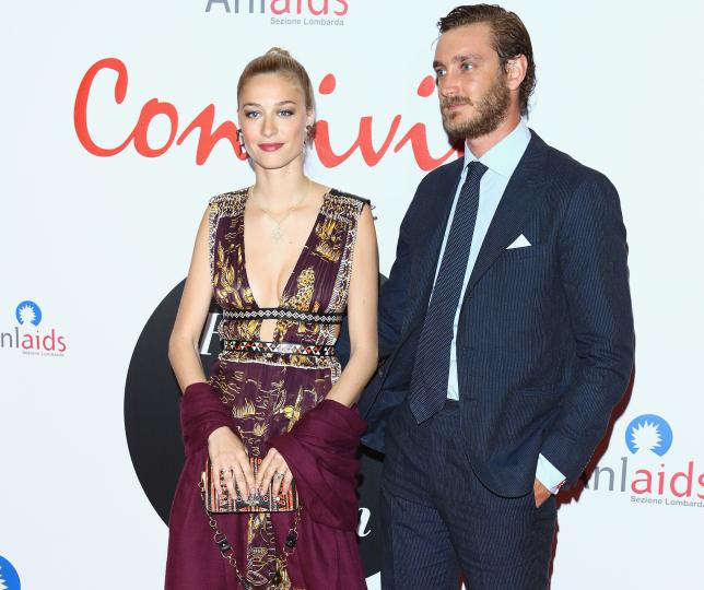 Prince Pierre Casiraghi and his wife Beatrice Borromeo