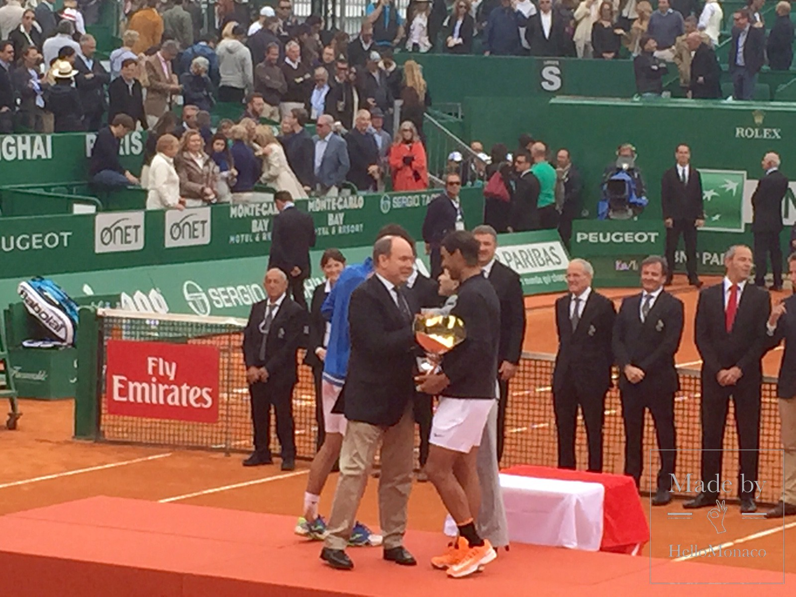 His Serene Highness Albert II, Sovereign Prince of Monaco presented Nadal with the trophy