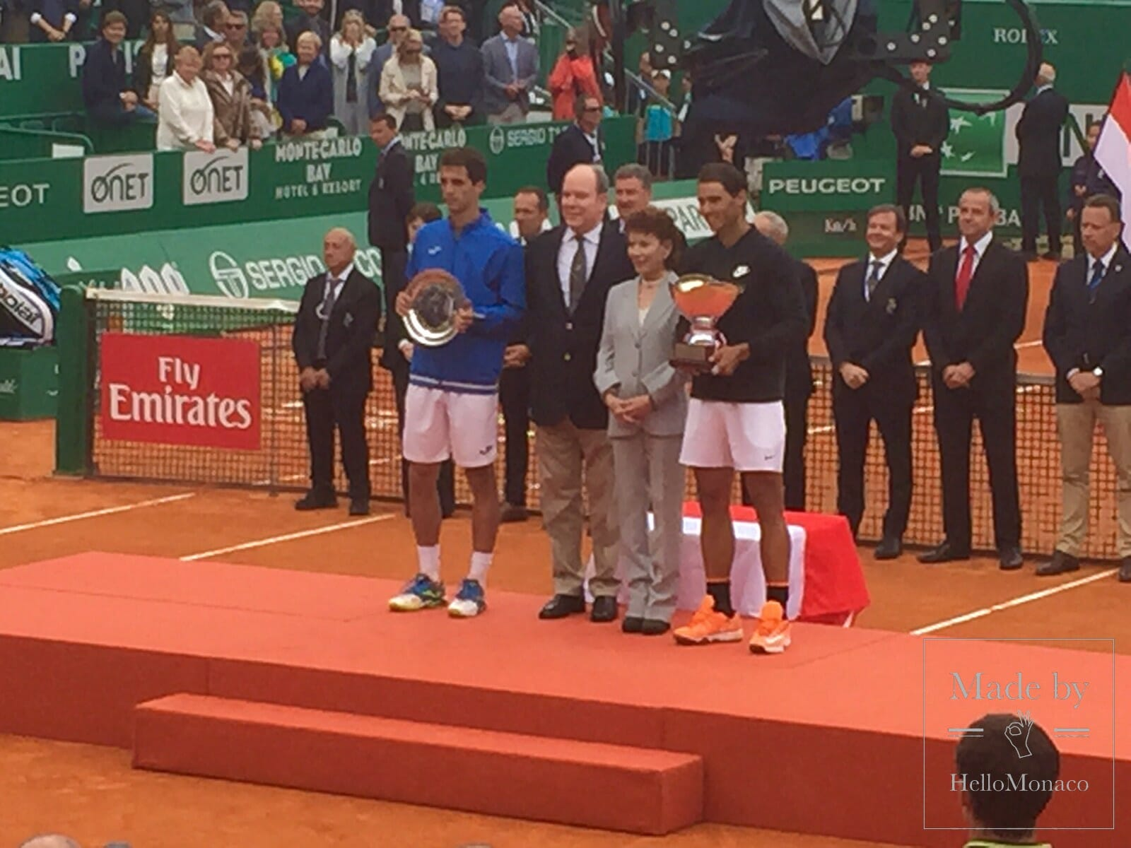 His Serene Highness Albert II, Sovereign Prince of Monaco at the Monte-Carlo Rolex Masters 2017