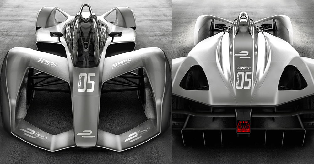 Formula E Season 5 car, SRT05e front and back.