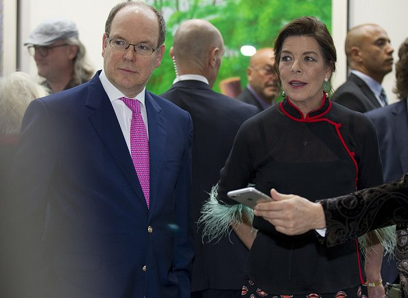 Prince Albert II and Princess Caroline