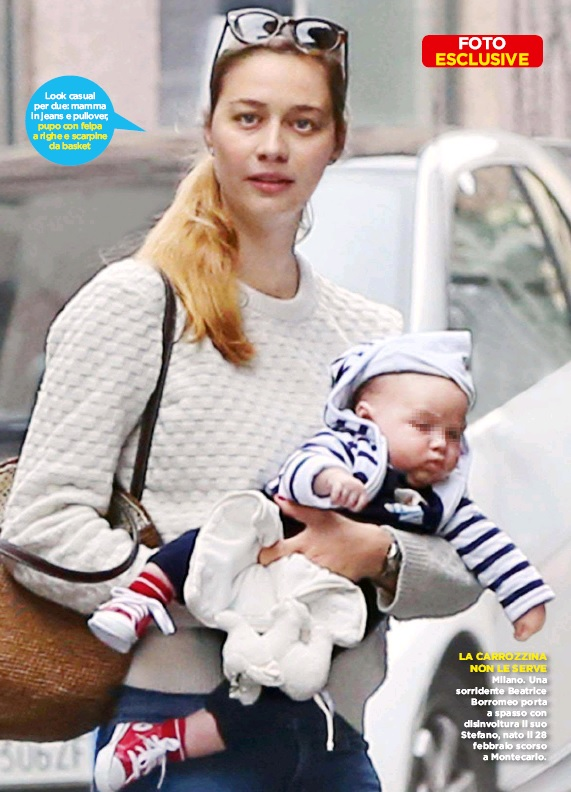 Beatrice Borromeo and her son