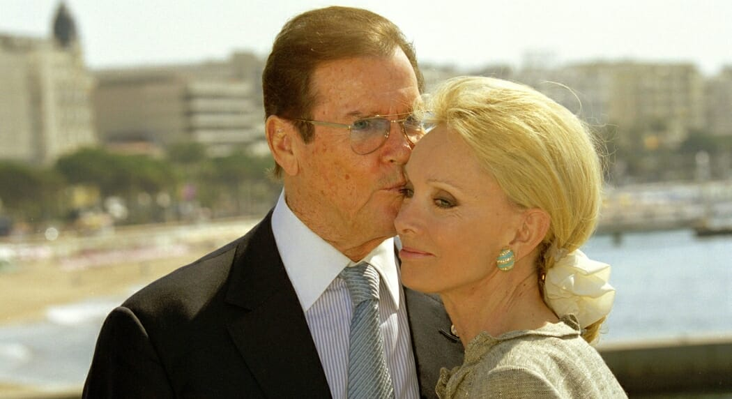 Roger Moore and his wife Kristina Tholstrup