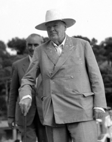 Sir Winston Churchill in Monaco in 1958 © Courtesy of Monte-Carlo SBM