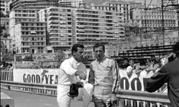 "Yves Montand, scene from the movie ""Grand Prix in 1966 © Courtesy of Monte-Carlo SBM"