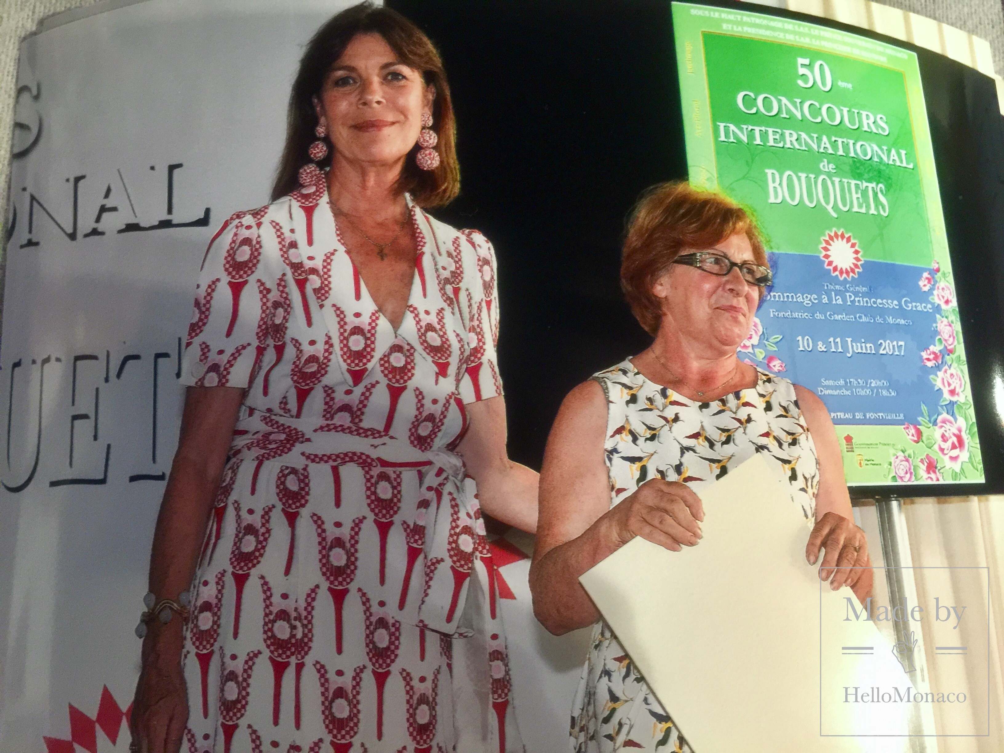 Princess Caroline visited 50th Monaco Flower Contest