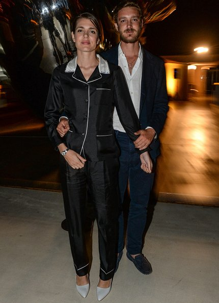 Charlotte and Pierre Casiraghi