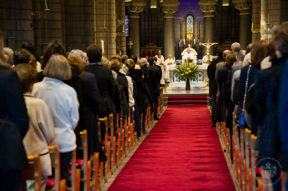 Mass in honor of Prince Rainier III