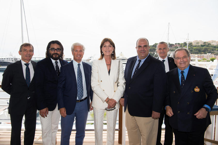 Princess Caroline attends CHPG Charity Lunch at the Yacht Club