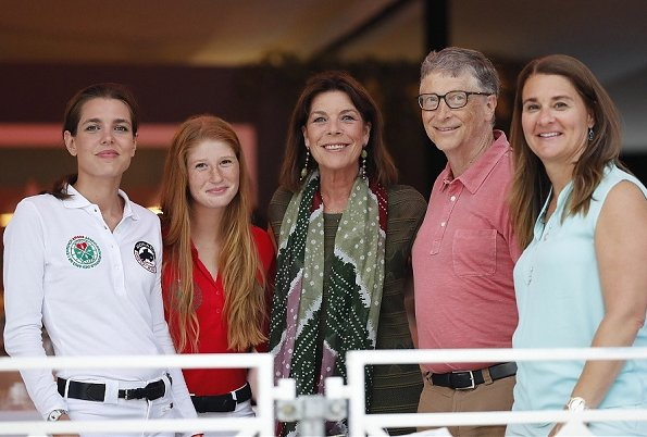 Princess Caroline of Hanover, Charlotte Casiraghi, Bill Gates and Melinda Gates