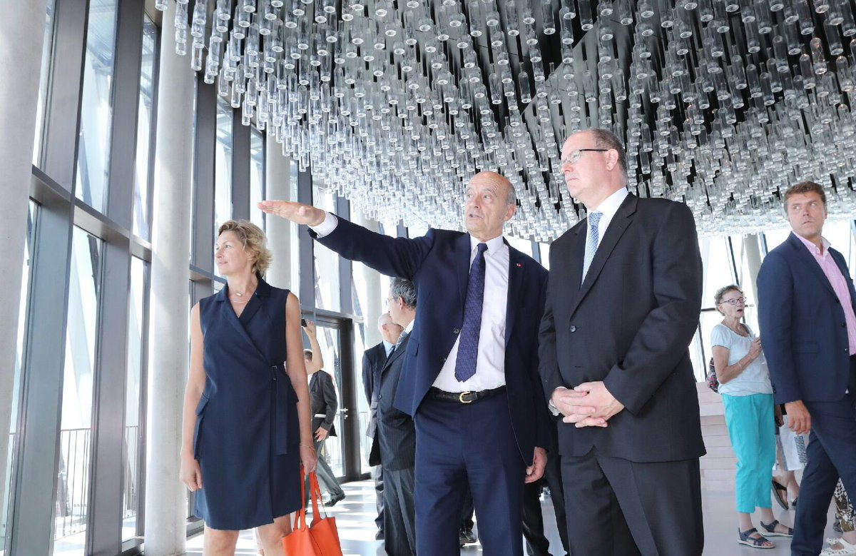 Prince Albert with Alain Juppé, Mayor of Bordeaux
