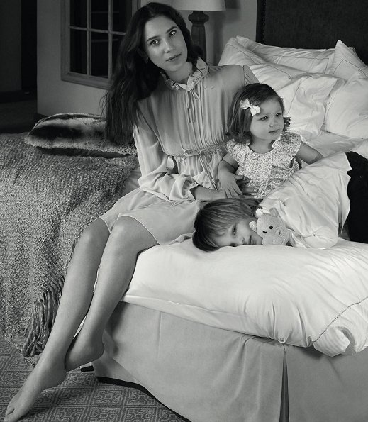 Tatiana Casiraghi with her two children, India and Sasha