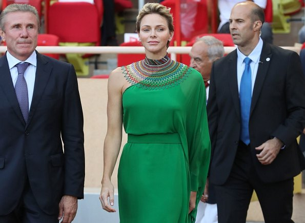 Prince Albert and Princess Charlene at IAAF's athletics meeting