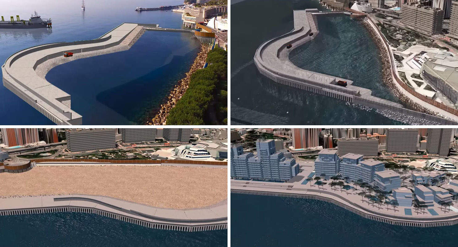 Monaco sea extension project